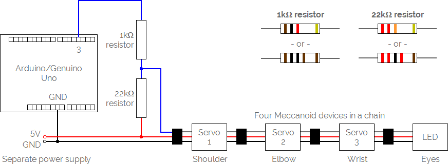 Meccanoid circuit diagram